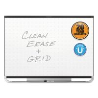 Quartet Prestige 2 Magnetic Total Erase Whiteboard, 72 x 48, Black Frame QRTTEM547B