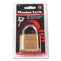 "Master Lock Resettable Combination Padlock, 2"" Wide, Brass MLK175D"