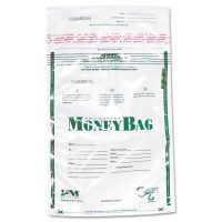 PM Company SecurIT Plastic Money Bags, Tamper Evident, 9 x 12, Clear, 50/Pack PMC58019