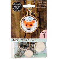 Mini Embroidery Hoop Necklace Punched For Cross Stitch NOTM052397