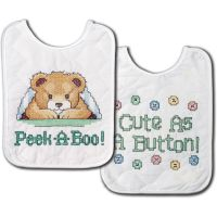 Tobin Under The Covers Bib Pair Stamped Cross Stitch Kit NOTM435094