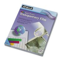 Apollo Color Laser Transparency Film, Letter, Clear, 50/Box APOCG7070