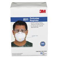 3M Particulate Respirator w/Cool Flow Exhalation Valve, 10 Masks/Box MMM8511