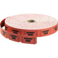 Maco Admit One Single Roll Tickets MAC18610