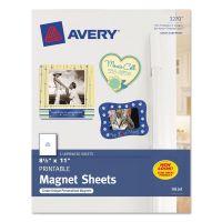 Avery Printable Inkjet Magnet Sheets, 8 1/2 x 11, White, 5/Pack AVE3270