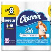 Charmin Ultra Soft Toilet Paper, 2-Ply, White, 4 x 3.92 Sheet, 142 Sheets/Roll, 4 Rolls/Pack PGC13258PK