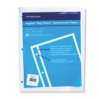 National Rip Proof Reinforced Filler Paper, Ruled, 20 lb, Letter, White, 100 Sheets/PK RED20122