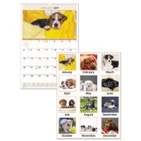 AT-A-GLANCE Puppies Monthly Desk Pad Calendar, 22 x 17, 2019 AAGDMD16632