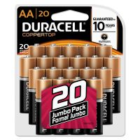 Duracell CopperTop Alkaline Batteries, AA, 20/PK DURMN1500B20Z