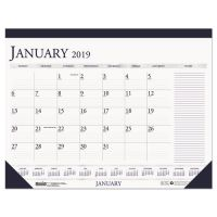 House of Doolittle Recycled Two-Color Monthly Desk Pad Calendar w/Large Notes Section, 22x17, 2019 HOD164