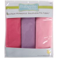 "Babyville PUL Waterproof Diaper Fabric 21""X24"" Cuts 3/Pkg NOTM140173"
