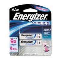 Energizer Lithium Batteries, AA, 2/Pack EVEL91BP2