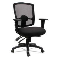 Alera Alera Etros Series Petite Mid-Back Multifunction Mesh Chair, Black ALEET4017