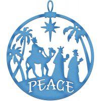 CottageCutz Elites Three Kings Peace Ornament Die NOTM089154