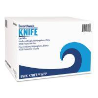 Boardwalk Mediumweight Polypropylene Cutlery, Knife, White, 1000/Carton BWKKNIFEMWPP