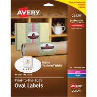 Avery Print To The Edge Oval Labels AVE22829