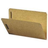 Smead Kraft K Style Fastener Folders, Straight Cut, Top Tab, Legal, Brown, 50/Box SMD19813