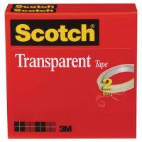"Scotch Transparent Tape 600 2P12 72, 1/2"" x 2592"", 3"" Core, Transparent, 2/Pack MMM6002P1272"
