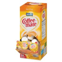 Coffee-mate Hazelnut Creamer, 0.375oz, 50/Box NES35180BX