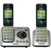 VTech CS6629-2 DECT 6.0 Expandable Cordless Phone with Answering System and Caller ID/Call Waiting, Silver with 2 Handsets SYNX3728616