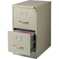 Lorell Commercial-Grade 2 Drawer Vertical File Cabinet LLR42290