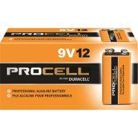 Duracell Procell Alkaline Batteries, 9V, 12/Box DURPC1604BKD