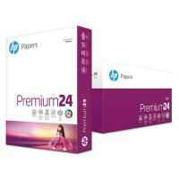 HP LaserJet Paper, 98 Brightness, 24 lb, 8 1/2 x 11, Ultra White, 500 Sheets/Ream HEW112400