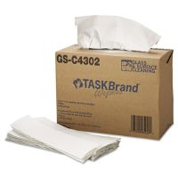 HOSPECO TASKBrand Glass & Surface Wipers, 4Ply, 9.75 x 16.75, White, 150/Box, 6 BX/Ct HOSNE025IDW