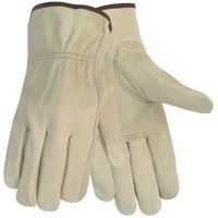 MCR Safety Economy Leather Driver Gloves, Large, Beige, Pair CRW3215L