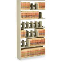 Tennsco Snap-Together Six-Shelf Closed Add-On, Steel, 36w x 12d x 76h, Sand TNN1276ACSD