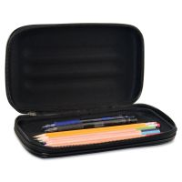 Innovative Storage Designs Large Soft-Sided Pencil Case, Fabric with Zipper Closure, Black AVT67000