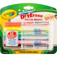 Crayola Washable Dry Erase Fine Line Markers CYO985912