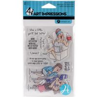 """Art Impressions People Clear Rubber Stamps 4""""X6"""" NOTM337025"""