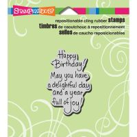 """Stampendous Cling Rubber Stamp 3.5""""X4"""" Sheet NOTM429855"""