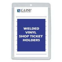 C-Line Clear Vinyl Shop Ticket Holder, Both Sides Clear, 25 Sheets, 5 x 8, 50/BX CLI80058