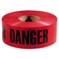 """Empire Danger Barricade Tape, """"Danger"""" Text, 3"""" x 1000ft, Red/Black EML771004"""
