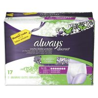 Always Discreet Incontinence Underwear, Large, Maximum Absorbency, 17/Pack, 3 Pk/Ctn PGC92736