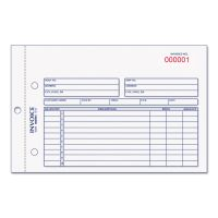 Rediform Invoice Book, 5 1/2 x 7 7/8, Carbonless Duplicate, 50 Sets/Book RED7L721
