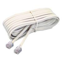 Softalk Telephone Extension Cord, Plug/Plug, 7 ft., Ivory SOF48106