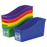 Storex Interlocking Book Bins, 4 3/4 x 12 5/8 x 7, 5 Color Set, Plastic STX70105U06C