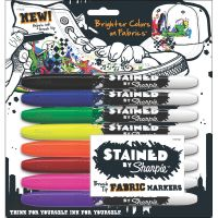 Stained By Sharpie Fabric Markers 8/Pkg NOTM131281