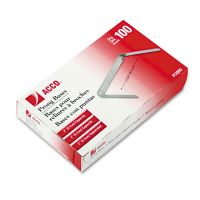 """ACCO Standard Two-Piece Paper Fasteners, 2"""" Capacity, 2 3/4"""" Center, Silver, 100/Box ACC12993"""