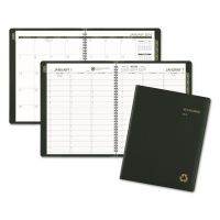 AT-A-GLANCE Recycled Weekly/Monthly Classic Appointment Book, 8 1/4 x 10 7/8, Green, 2018 AAG70950G60