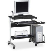 Mayline Portrait PC Desk Cart Mobile Workstation, 36-1/2w x 19-1/4d x 31h, Anthracite MLN946ANT