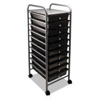 Advantus Portable Drawer Organizer, 13w x 15 3/8d x 37 3/4h, Smoke/Matte Gray AVT34007