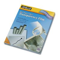 Apollo Plain Paper B/W Transparency Film, Letter, Clear, 100/Box APOPP100C
