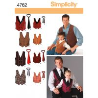 Simplicity Boys' And Men's Vests And Tie NOTM496060