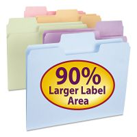 Smead SuperTab File Folders, 1/3 Cut Top Tab, Letter, Assorted Colors, 100/Box SMD11961