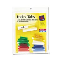 Avery Insertable Index Tabs with Printable Inserts, 1, Assorted Tab, 25/Pack AVE16219