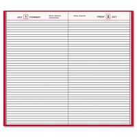 AT-A-GLANCE Standard Diary Daily Diary, Recycled, Red, 7 11/16 x 12 1/8, 2019 AAGSD37613